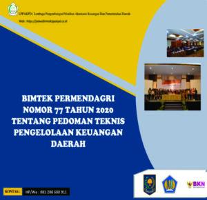 Bimtek Permendagri Nomor 77 Tahun 2020